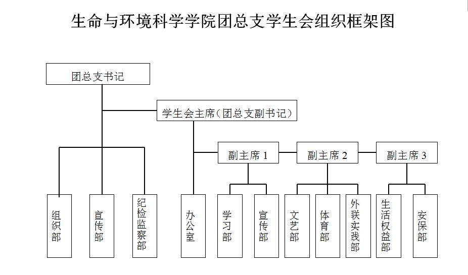 总支学生会组织框架图